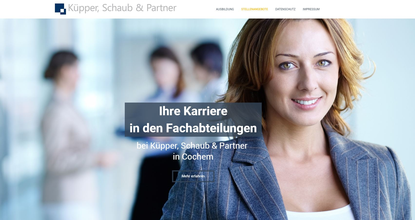 referenz-Steuerkanzlei-karriere_kuepperSchaubPartner_plentyLeads-GmbH_Landingpage-Screenshot_2017-08